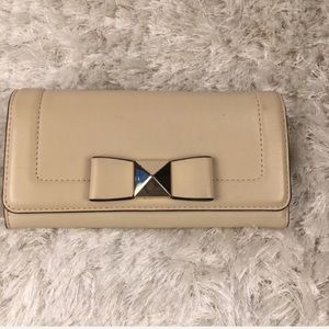 Kate Spade Wallet Cream Beige Bow